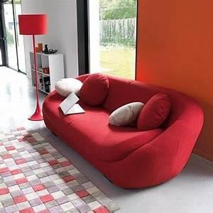 Deco moderne avec petit canape design rouge la redoute for Canapé petite taille design