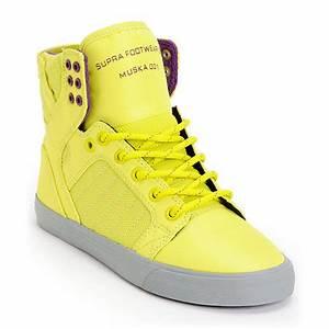 Supra Womens Skytop Neon Yellow Nylon from Zumiez