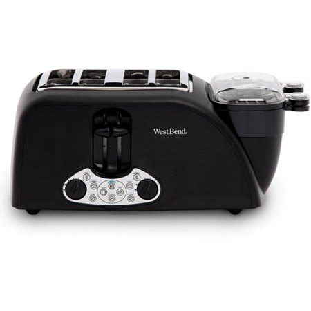 west bend 4 slice egg and muffin toaster black walmart