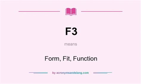 f3 form fit function in undefined by acronymsandslang