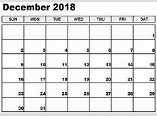 December 2018 Calendar Nz – Free Printable 2018 Calendar