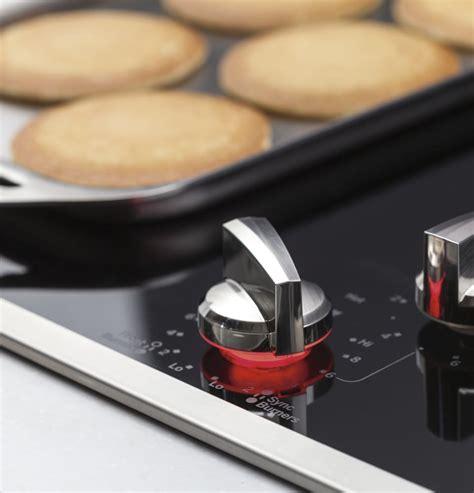 ge ppsjsv   smoothtop electric cooktop   radiant elements sync burner versatile