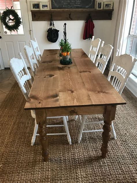 diy long skinny farmhouse table ft long  wide