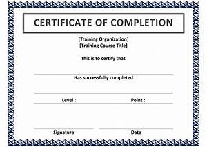 Certificate of achievement word template template for Certificate of attainment template
