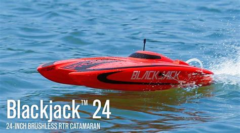 Rc Gas Boat Electric Start by Pro Boat Blackjack 24 Inch Catamaran Brushless Rc Boat
