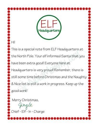 elf   shelf arrival letter template matah