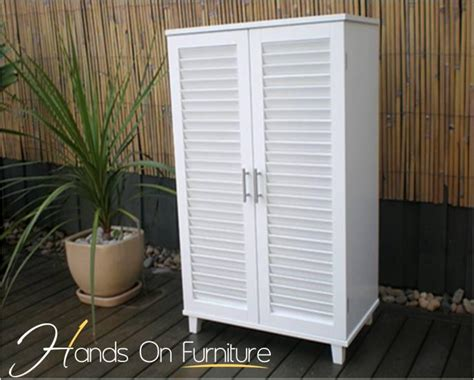 White Louvre Cupboard Doors by Brand New White Louvre Door 36 Pairs Shoe Storage Cabinet