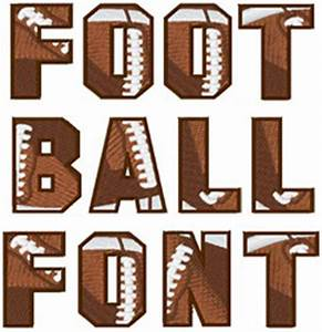 styles embroidery font football font from embroidery patterns With football letters and numbers