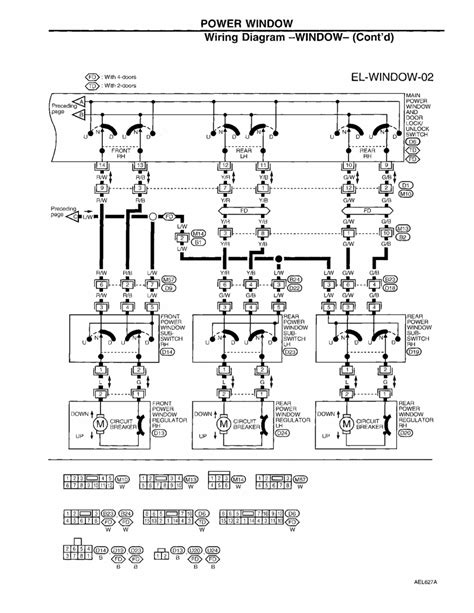 1997 Nissan Altima Wiring Diagram by Repair Guides Electrical System 1997 Power Window