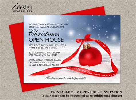 Open house invitation templates costumepartyrun 23 business invitation templates free sample example accmission Image collections