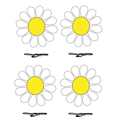 place cards  daisy design  top templates