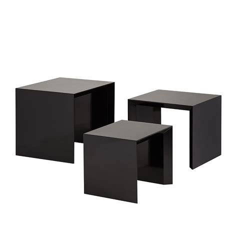 beistelltisch hochglanz schwarz beistelltisch set three 3 teilig hochglanz schwarz home24