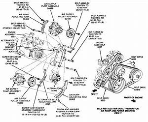 87 Ford F250  Diagram Or Picture Of The Belt Configuration