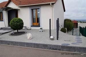 gravier concass quarzit gris 8 11mm With idee deco jardin gravier 4 ma terrasse renovee