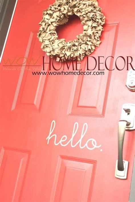 Vinyl Wall Decal Art - Hello Vinyl front door sign ...