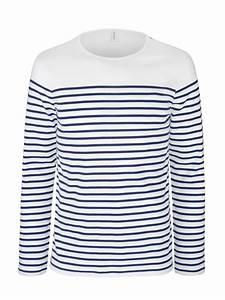 T Shirt Mariniere Homme : marini re homme t shirt manches longues ray blanc et ~ Melissatoandfro.com Idées de Décoration