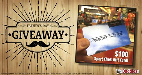 Topdaddies Father's Day Giveaway #1  $100 Sport Chek Gift Card