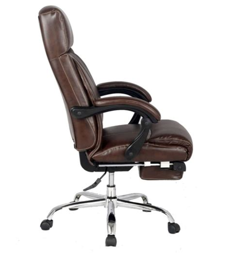 high chair with footrest viva office 174 new high back ergonomic brown bonded leather
