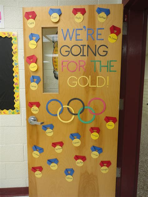 olympic themed door decorations olympic theme  classroo