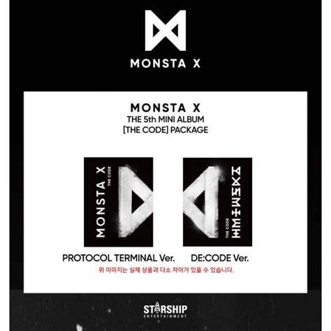 monsta x album list in order monsta x the code random version gasoo kpop galore