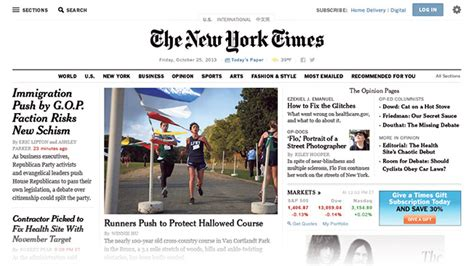 New York Times Plans Website Redesign For Jan. 8