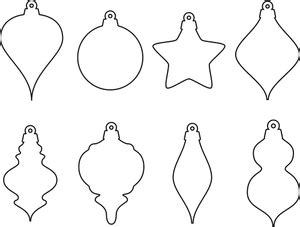 christmas ornament outlines printable 2791 free ornament clipart domain vectors