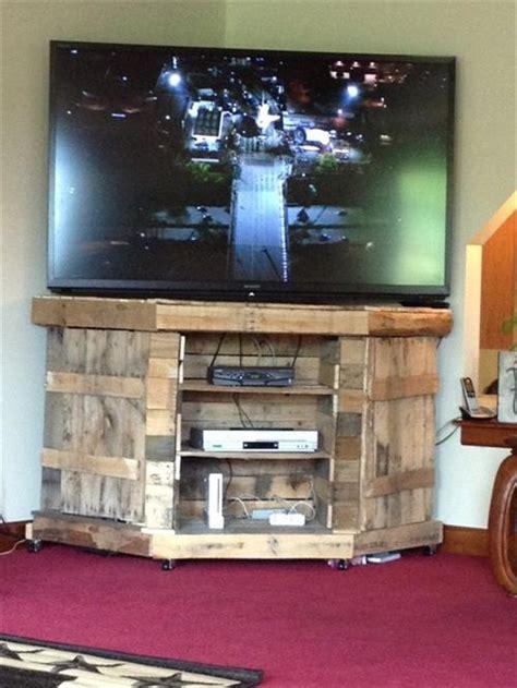 diy pallet wood tv stand furniture ideas pallets designs