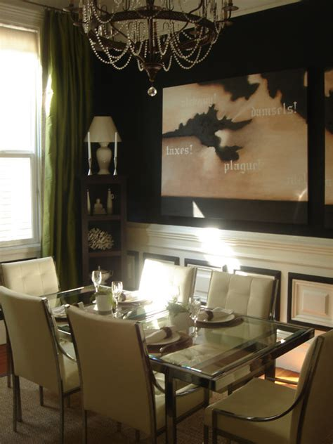 Dramatic Dining Room  Eclectic  Dining Room San