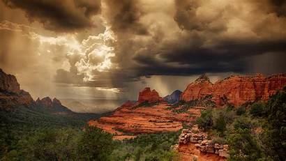 Sedona Desktop Az Arizona Wallpapers Rocks Storm