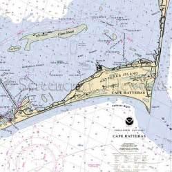 Kitchen Island With Table Combination Carolina Cape Hatteras Hatteras Island Clam Shoal Nautical Chart Decor