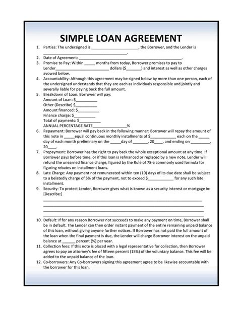 installment loan agreement template sampletemplatess