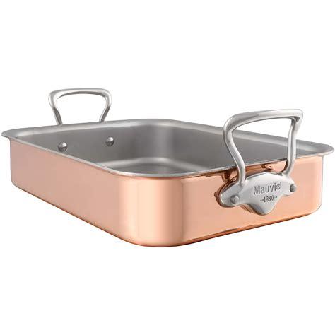 mauviel ms copper tri ply roasting pan  rack  ebay