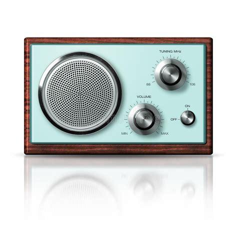 modern portable radio retro style stock illustration image 42333798