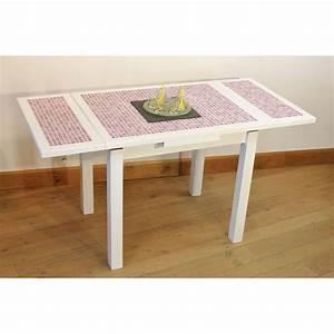 Table Cuisine Blanche : ensemble table cuisine carrel e mosa que 4 chaises laqu es blanche ~ Teatrodelosmanantiales.com Idées de Décoration