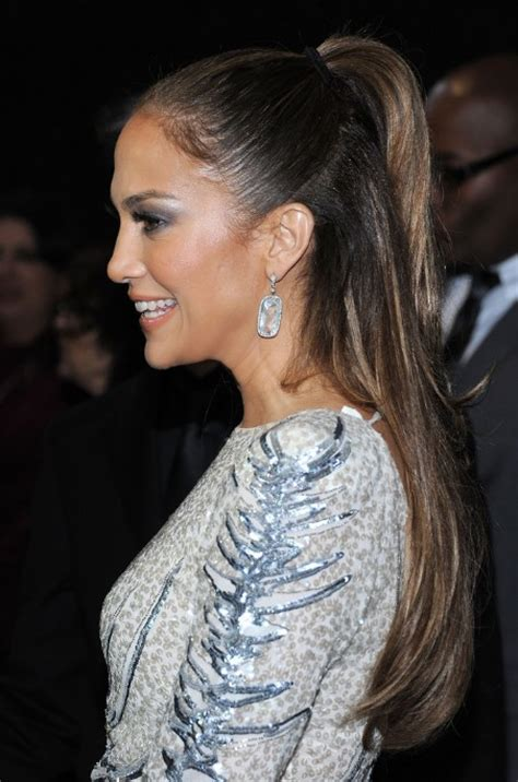 jennifer lopez     ponytail hairstyle