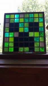 Minecraft Creeper face stained glass | My Stained Glass ...