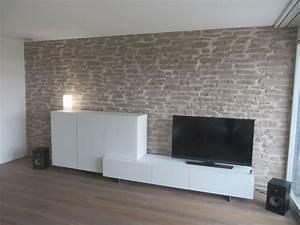 Wand Mit Steinoptik : wohnzimmerwand steinoptik lajas wandgestaltung ~ Watch28wear.com Haus und Dekorationen