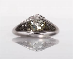 1910 antique edwardian 178 carat diamond platinum With 1910 wedding rings