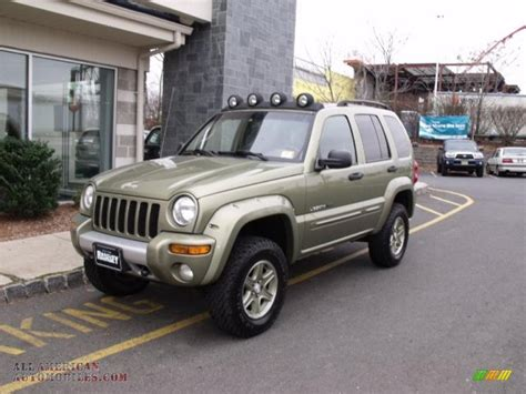 green jeep renegade 2002 jeep liberty renegade 4x4 in cactus green metallic