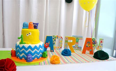 Lorful Monster Themed St Birthday Party Pretty Party