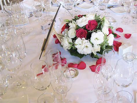 centre de table mariage rose  blanc decoration florale