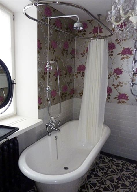 shower curtain freestanding bath search
