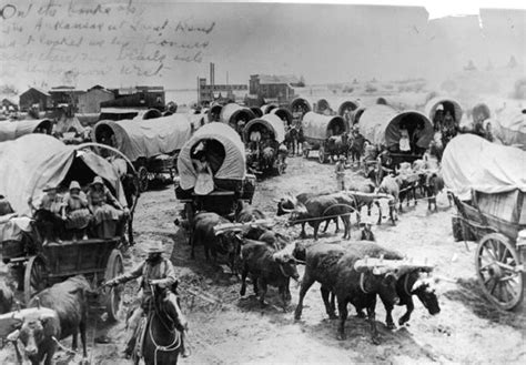 pioneer pictures pioneers wagons and oxen crossing the arkansas river at great bend ks