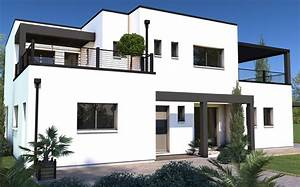 formidable idee facade maison moderne 6 modele albireo1 With modele facade maison moderne