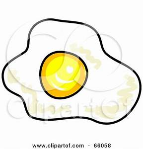Clipart Egg Frying In A Pan - Royalty Free Vector ...