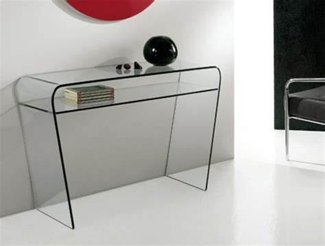 tables consoles en verre design et modernes