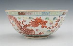 A Chinese Porcelain Famille Painted Dragon Bowl, 01.27.11 ...