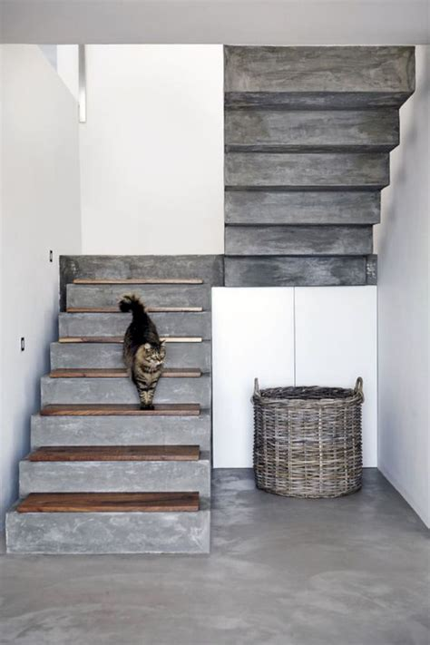 Treppenstufen Beton Innen by 16 Cool Concrete Staircase Ideas Stairs