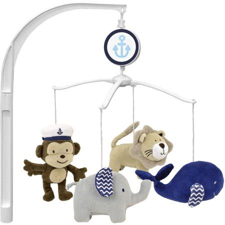musical mobile for crib garanimals boating buddies musical crib walmart