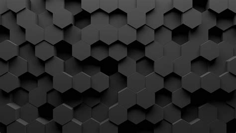 Abstract Black Texture Background Hexagon by Abstract Hexagon Geometry Background 3d Stock Footage